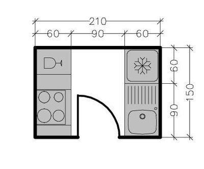Installation d 39 une cuisine parall le m tropolitaine for Plan petite cuisine amenagee