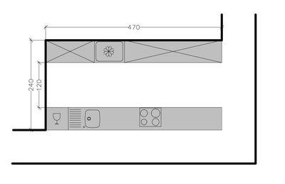 267239 8 plans de cuisine en disposition parallele face a. Black Bedroom Furniture Sets. Home Design Ideas